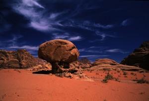 Champignon rocheux magique du Sud-Jordanien. Photo Mario Verin
