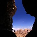 Montagne de Wadi Rum, alpinistes en ombre chinoise - Photo Mario Verin
