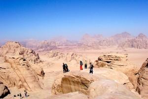 Randonnée sur les hauteurs à Wadi Rum