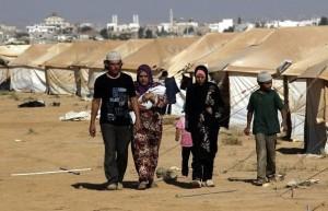 Réfugiés syriens au camp de Zaatari en Jordanie