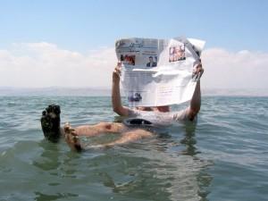 Flottaison en Mer Morte...