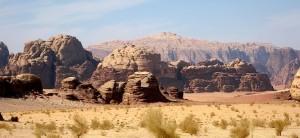 Jebel Rum, from Abu Kscheibah - Jordan