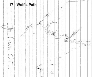 The Wolf's Path sketch, Lionheart Tower, the topo