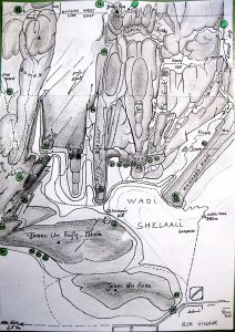 Wadi Shelaali Climbs, topo