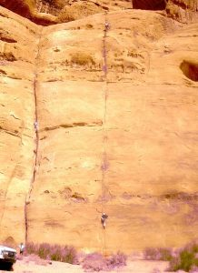 single pitch rock climbing Wadi Rum