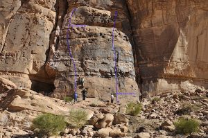 Single pitch bolted climbs Wadi Rum