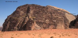 Um Razza valley in Wadi Rum, Southern area