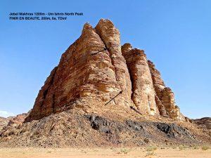 trad climbs Wadi Rum