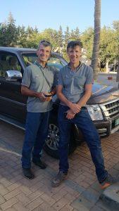 Michel Coranotte et Neil Brodie de l'ENSA, formateurs en Jordanie