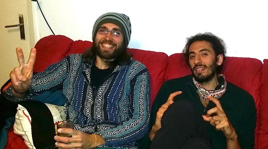 "Jordan rock climbing - Marwan Meeshka and Abed ""Kanfoush"" Dabbas, leading climbers in Jordan."